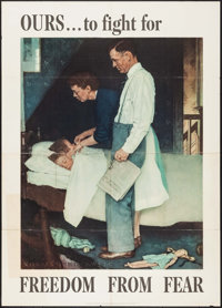 """World War II Propaganda by Norman Rockwell (U.S. Government Printing Office, 1943). OWI Poster No. 46 (40"""" X 56&quo..."""