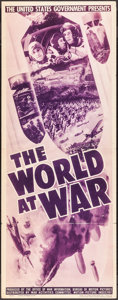 """Movie Posters:Documentary, The World at War (War Activities Committee, 1942). Insert (14"""" X 36""""). Documentary.. ..."""