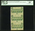 Fractional Currency:First Issue, Fr. 1312 50¢ First Issue Strip of Three Notes PCGS Extremely Fine 40.. ...