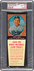Baseball Cards:Singles (1950-1959), 1958 Hires Root Beer Johnny Podres #42 PSA NM-MT+ 8.5 - Pop One,Two Higher. ...