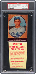 Baseball Cards:Singles (1950-1959), 1958 Hires Root Beer Pee Wee Reese #23 PSA NM-MT 8 - None ...