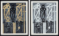 Fine Art - Sculpture, American:Contemporary (1950 to present), RETNA (American, b. 1979). Eastern Realm (two works), 2014.Screenprints in colors on paper. 24-1/4 x 18-1/2 inches (61....(Total: 2 Items)