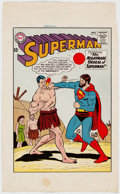 Curt Swan and George Klein Superman #171 Cover Press Proof (DC, 1964) Comic Art