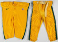 Football Collectibles:Uniforms, Green Bay Packers Game Worn Pants Lot of 2.. ...