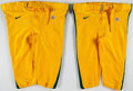 Football Collectibles:Uniforms, Green Bay Packers Game Worn Pants Lot of 2. . ...