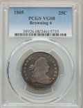 Early Quarters, 1805 25C B-4, Low R.4, VG8 PCGS. PCGS Population: (2/9). NGC Census: (4/14). VG8 . Mintage 121,394. ...