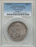 Bust Half Dollars, 1819/8 50C Large 9, O-104, R.1, -- Cleaning -- PCGS Genuine. AU Details. PCGS Population: (3/8). NGC Census: (2/11). AU50....