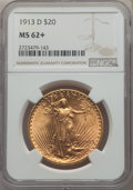 Saint-Gaudens Double Eagles: , 1913-D $20 MS62+ NGC. NGC Census: (1258/2143 and 3/25+). PCGS Population: (994/3184 and 6/77+). CDN: $1,350 Whsle. Bid for ...