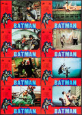 "Movie Posters:Action, Batman (20th Century Fox, 1979). First Release Spanish Lobby CardSet of 12 (11"" X 14""). Action.. ... (Total: 12 Items)"
