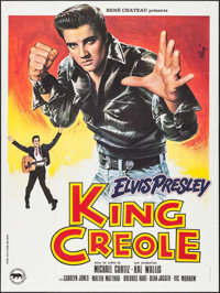 "King Creole (Paramount, R-1978). French Grande (47"" X 63""). Elvis Presley"