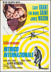 "North by Northwest (MGM, R-1976). Italian 2 - Fogli (38.75"" X 54.75""). Hitchcock"