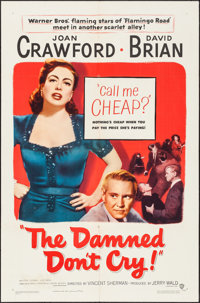 """The Damned Don't Cry (Warner Brothers, 1950). One Sheet (27"""" X 41""""). Film Noir"""