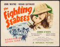 """Movie Posters:War, The Fighting Seabees (Republic, 1944). Title Lobby Card (11"""" X14""""). War.. ..."""