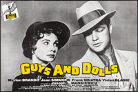 "Guys and Dolls (MGM, R-1980s). French Half Grande (31.5"" X 47""). Musical"