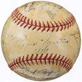Autographs:Baseballs, 1944 St. Louis Cardinals Team Signed Baseball (18 Signatures).. ...