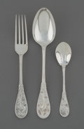 Silver Flatware, American:Tiffany, A Sixteen-Piece Tiffany & Co. Japanese Pattern SilverFlatware Group, New York City, designed 1871, manufactured...(Total: 16 Items)