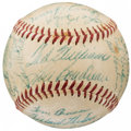 Autographs:Baseballs, 1954 Boston Red Sox Team Signed Baseball (27 Signatures).. ...