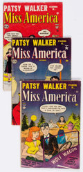 Golden Age (1938-1955):Romance, Miss America Magazine Group of 7 (Atlas, 1952-57) Condition:Average GD/VG.... (Total: 7 Comic Books)