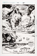 Original Comic Art:Panel Pages, Mike Dochtery and Ricardo Villagran Conan the Barbarian #258Story Page 17 Original Art (Marvel Comics, 1992)....