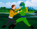 Movie/TV Memorabilia:Original Art, Star Trek: The Animated Series Captain Kirk and Orion PirateProduction Cel (Filmation, 1974). ...