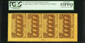 Fractional Currency:First Issue, Fr. 1281 25¢ First Issue Strip of Four Notes PCGS About New 53PPQ.....