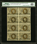 Fractional Currency:Second Issue, Fr. 1233 5¢ Second Issue Block of Eight Notes PMG Extremely Fine 40.. ...
