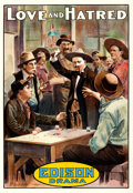 "Movie Posters:Western, Love and Hatred (Edison Manufacturing Co., 1911). One Sheet (28"" X 41"").. ..."