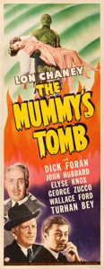 "Movie Posters:Horror, The Mummy's Tomb (Universal, 1942). Insert (14"" X 36"").. ..."