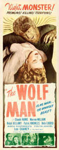 "Movie Posters:Horror, The Wolf Man (Realart, R-1948). Insert (14"" X 36"").. ..."