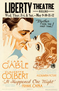 "Movie Posters:Academy Award Winners, It Happened One Night (Columbia, 1934). Window Card (14"" X 22"")....."