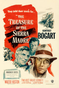 "The Treasure of the Sierra Madre (Warner Brothers, 1948). One Sheet (27"" X 40.75"")"