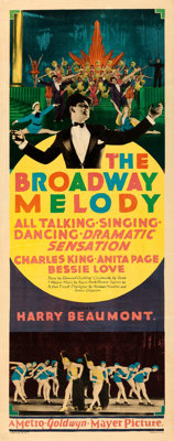 "The Broadway Melody (MGM, 1929). Insert (14"" X 36"")"
