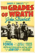 "Movie Posters:Drama, The Grapes of Wrath (20th Century Fox, 1940). One Sheet (27"" X 41"")Style A.. ..."