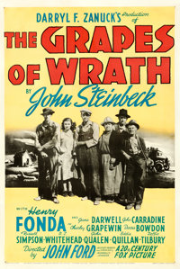 """The Grapes of Wrath (20th Century Fox, 1940). One Sheet (27"""" X 41"""") Style A"""