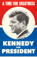 """Movie Posters:Miscellaneous, John F. Kennedy for President (1960). Full-Bleed Campaign Poster (29"""" X 44"""") """"A Time for Greatness."""". ..."""