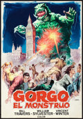 "Movie Posters:Science Fiction, Gorgo by Jano (MGM, R-1972). Original Spanish Poster ArtworkRendering (12.5"" X 18"").. ..."