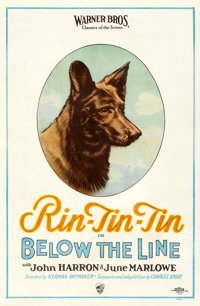 """Below the Line (Warner Brothers, 1925). One Sheet (26.75"""" X 41"""")"""