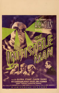 """The Invisible Man (Universal, 1933). Window Card (14"""" X 22"""")"""