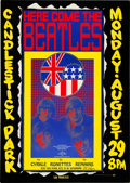 Music Memorabilia:Posters, Beatles Candlestick Park Concert Poster Signed By Wes Wilson AOR-1.115 (1966)....