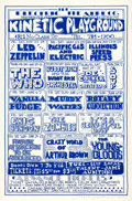 Music Memorabilia:Posters, Led Zeppelin/The Who Kinetic Playground Concert Poster Signed By Artist Mark Behrens AOR-3.127 (Electric Theatre Co. Presents,...
