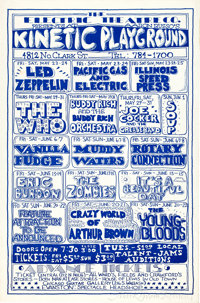 Led Zeppelin/The Who Kinetic Playground Concert Poster Signed By Artist Mark Behrens AOR-3.127 (Electric Theatre Co. Pre...