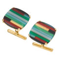 Estate Jewelry:Cufflinks, Hardstone, Gold Cufflinks, Carvin French. ...