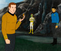 Movie/TV Memorabilia:Original Art, Star Trek: The Animated Series Kirk, Ari bn Bem, and SpockProduction Cel Setup (Filmation, 1974). ...