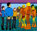 Movie/TV Memorabilia:Original Art, Star Trek: The Animated Series McCoy, Spock, Kirk, andDramians Production Cel Setup (Filmation, 1974). ...