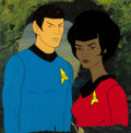 Movie/TV Memorabilia:Original Art, Star Trek: The Animated Series Spock and Uhura ProductionCel Setup (Filmation, c. 1973-74)....