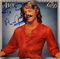 Music Memorabilia:Autographs and Signed Items, Andy Gibb Signed Shadow Dancing LP (RSO RS-1-3034, 1978)....