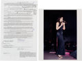 Music Memorabilia:Autographs and Signed Items, Mýa Signed Group of Three Contracts for the Michael Jackson: 30thAnniversary Celebration Concerts (New York, 2001).....