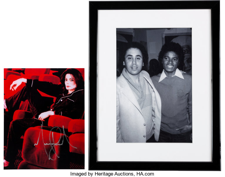 Michael Jackson Signed Color Photo and Framed Black and | Lot #89738 ...