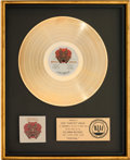 "Music Memorabilia:Awards, Santana Festival RIAA Gold Record Sales Award Presented toJose ""Chepito"" Areas.. ..."