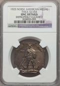 1925 Medal Norse, Thick Planchet, -- Improperly Cleaned -- Details NGC. UNC. NGC Census: (1/919). PCGS Population: (3/10...